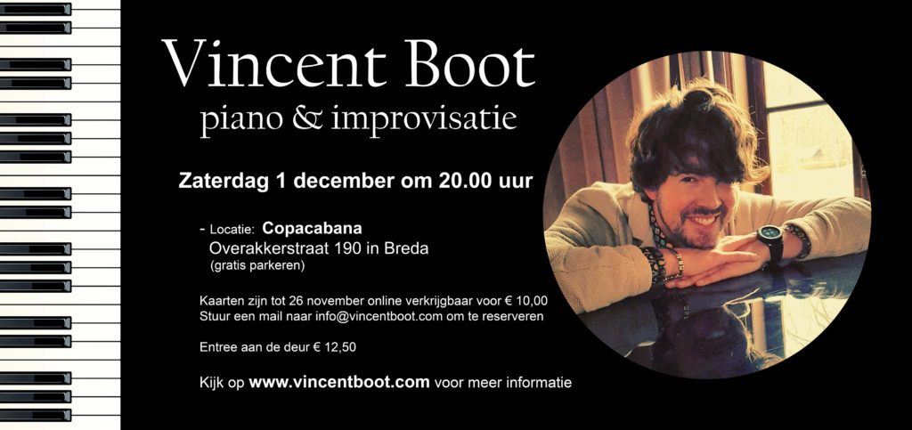 pianist Vincent Boot Copacabana Breda